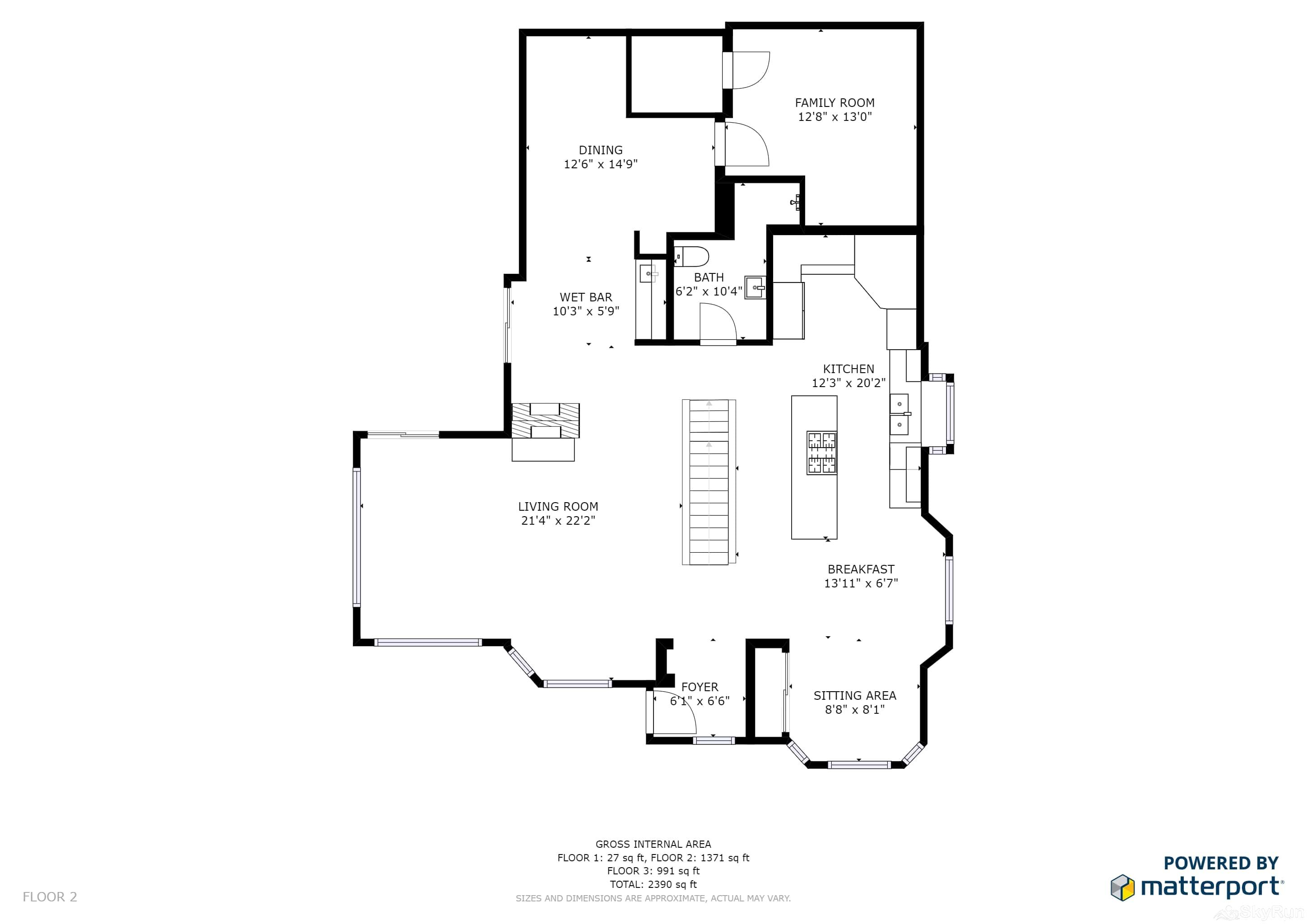 Charming Stone Home DV Drive Floor Plan Main Level